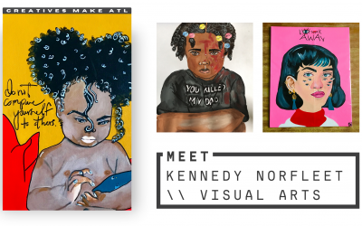 """""""Art seemed to comfort me in a way. Art saved my life."""" Kennedy Norfleet"""