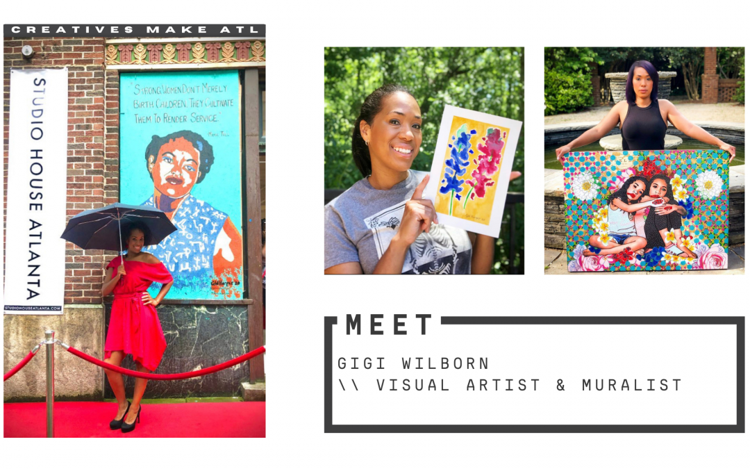 15 years as an ER nurse, now a visual artist and muralist – let's chat with Gigi