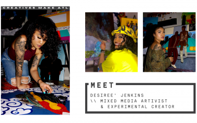Desiree' encourages you to be yourself, let your art reflect that!